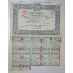 PORT-ETIENNE 1925 - MAURITANIE - ACTION PRIVILEGIEE DE 100 FRANCS AU PORTEUR
