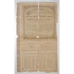 75 - PARIS 1883 - CHEMIN DE FER DE PARIS A ORLEANS - OBLIGATION DE 500 FRANCS