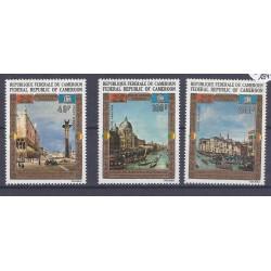 CAMEROUN - 3 TIMBRES - 40 FRANCS + 100 FRANCS + 200 FRANCS - UNESCO - VENISE