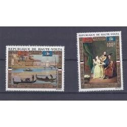 HAUTE-VOLTA - 2 TIMBRES - 100 FRANCS + 150 FRANCS - UNESCO - VENISE