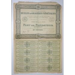 75 - PARIS 1923 - SA DES HUILES ET GRAISSES VEGETALES - ACTION DE 100 FRANCS