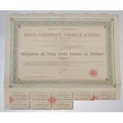 75 - PARIS 1922 - STE GENERALE DE HAUTS FOURNEAUX, FORGES ET ACIERIES EN RUSSIE