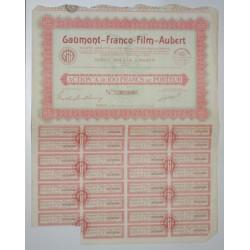 75 - PARIS 1931 - GAUMONT-FRANCO-FILM-AUBERT - ACTION A DE 100 FRANCS