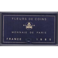 COFFRET FLEUR DE COIN 1985 TRANCHE B