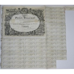 75 - PARIS 1896 - SOCIETE ANONYME DU PETIT JOURNAL - ACTION DE 500 FRANCS