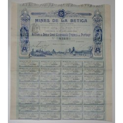 75 - PARIS 1909 - MINES DE LA BETICA - ACTION DE 250 FRANCS