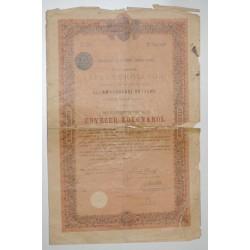 75 - PARIS 1903 - BUDAPEST - ROYAUME DE HONGRIE - OBLIGATION DE 1000 COURONNES