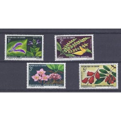 CONGO - 4 STAMPS - 1, 2, 3 ET 5 FRANCS - 1970 - FLOWERS