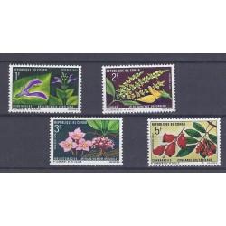 CONGO - 4 TIMBRES - 1, 2, 3 ET 5 FRANCS - 1970 - FLEURS