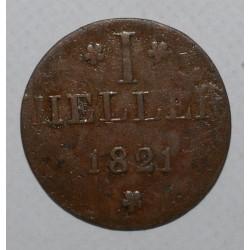 ALLEMAGNE - FRANCFORT - KM Tn12 - 1 HELLER 1821 - B / TB