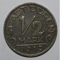 ALLEMAGNE - DÜREN - FUNCK 105.11 - 1/2 MARK 1919 PILOTE - TTB