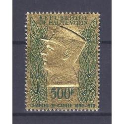 UPPER VOLTA - STAMP - 500 FRANCS - CHARLES DE GAULLE 1890 - 1970