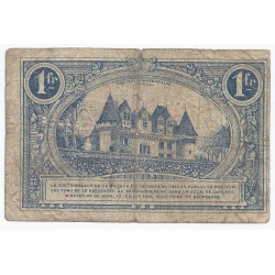 COUNTY 24 - BERGERAC - CHAMBER OF COMMERCE - 1 FRANC 1920 - F