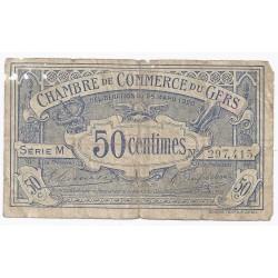 32 - GERS - CHAMBRE DE COMMERCE - 50 CENTIMES 1920 - BEAU