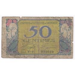 38 - GRENOBLE - CHAMBRE DE COMMERCE - 50 CENTIMES 1922 - BEAU