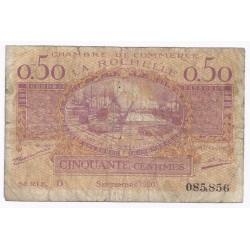 17 - LA ROCHELLE - CHAMBRE DE COMMERCE - 50 CENTIMES 1920 - BEAU
