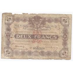 76 - LE HAVRE - CHAMBRE DE COMMERCE - 2 FRANCS 1923 - BEAU