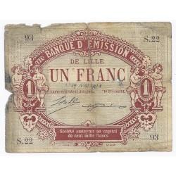 59 - LILLE - CHAMBRE DE COMMERCE - 1 FRANC 1914 - BEAU