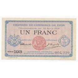69 - LYON - CHAMBRE DE COMMERCE - 1 FRANC 1914 - NEUF