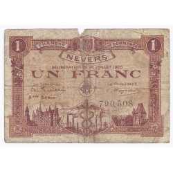 COUNTY 58 - NEVERS - CHAMBER OF COMMERCE - 1 FRANC 1920 - F