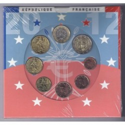 FRANCE - COIN SET BU 2012 - 8 COINS - MONNAIE DE PARIS