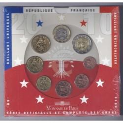 FRANCE - COIN SET BU EURO 2010 - 8 COINS - MONNAIE DE PARIS