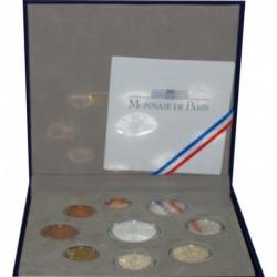 FRANCE - EURO COIN SET PROOF 2010 - 9 COINS - MONNAIE DE PARIS