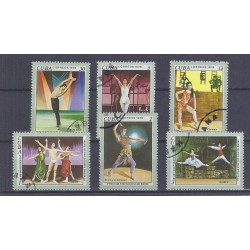 CUBA - 6 TIMBRES - 1, 2, 3, 5, 13, 30 CENTAVOS - 1976 - FESTIVAL INTERNATIONAL DE BALLET