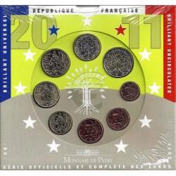 FRANCE - COIN SET BU 2011 - 8 COINS - MONNAIE DE PARIS
