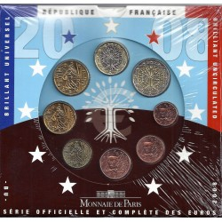 FRANCE - COFFRET EURO BRILLANT UNIVERSEL CLASSIQUE 2008 - 8 PIECES