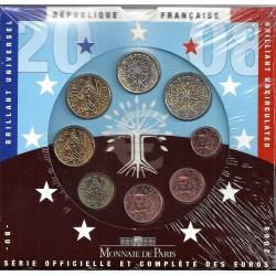 FRANCE - COIN SET BU 2008 - 8 COINS - MONNAIE DE PARIS