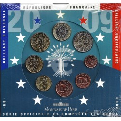 FRANCE - COIN SET BU EURO 2009 - 8 COINS - MONNAIE DE PARIS
