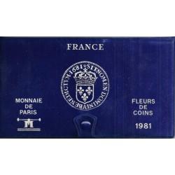 COFFRET FLEUR DE COIN 1981 TRANCHE B