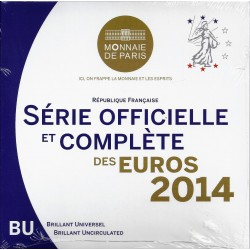 FRANCE - COIN SET BU EURO 2014 - 8 COINS - MONNAIE DE PARIS