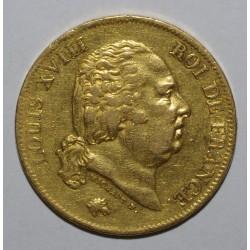 GADOURY 1092 - 40 FRANCS 1819 W - LOUIS XVIII - TTB - KM 713.6