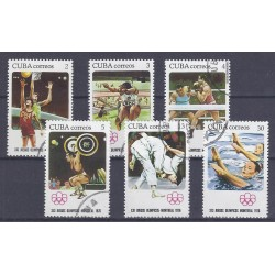 CUBA - 6 STAMPS - 2, 3, 4, 5, 13, 30 CENTAVOS - 1976 - OLYMPIC GAMES OF MONTREAL