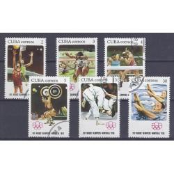 CUBA - 6 TIMBRES - 2, 3, 4, 5, 13, 30 CENTAVOS - 1976 - JEUX OLYMPIQUE DE MONTRÉAL
