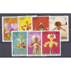 CUBA - 7 STAMPS - 1, 2, 3, 4, 5, 13, 30 CENTAVOS - 1971 - ORCHIDS