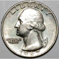 UNITED STATES - 1/4 DOLLAR EAGLE - 1967 - GEORGE WASHINGTON