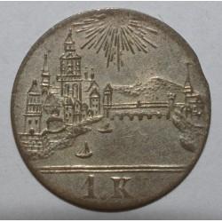 ALLEMAGNE - FRANCFORT - KM 317 - 1 KREUZER 1839 - TTB