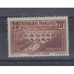 Y&T 262a - 20 FRANCS - BRIDGE OF GARD - TYPE II B