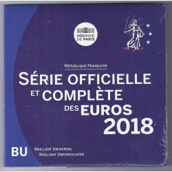 FRANCE - COFFRET EURO BRILLANT UNIVERSEL CLASSIQUE 2018 - 8 PIECES