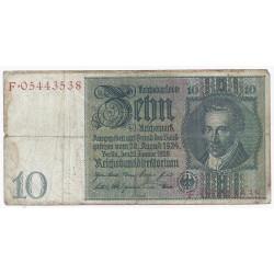 ALLEMAGNE - PICK 180 - 10 REICHMARK - 1929 - TB / TTB