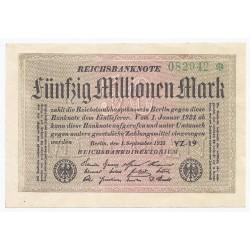 ALLEMAGNE - PICK 109 - 50 000 000 MARK - 01/09/1923 - SUPERBE