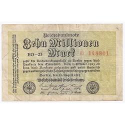 ALLEMAGNE - PICK 106 - 10 MILLIONEN MARK - 22/08/1923 - TRES BEAU