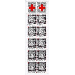 """Y&T 2449a - CARNET """"CROIX ROUGE"""" N° 2035 DE 10 TIMBRES-POSTES DE 2.20 F + 0.60 F - 1986 - NEUF"""