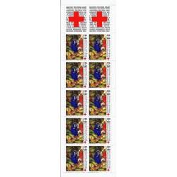 """Y&T 2498a - CARNET """"CROIX ROUGE"""" N° 2036 DE 10 TIMBRES-POSTES DE 2.20 F + 0.60 F - 1987 - NEUF"""