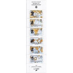 "Y&T BC 2523 - STAMP BOOKLET ""PERSONNAGES CELEBRES"" - MARINERS AND EXPLORERS - 6 STAMPS - 1988 - UNC"