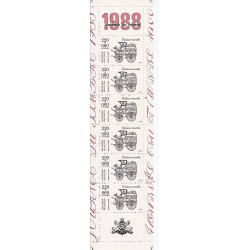 """Y&T BC2526A - CARNET """"JOURNEE DU TIMBRE"""" DE 6 TIMBRES-POSTES DE 2.20 F + 0.60 F - 1988 - NEUF"""