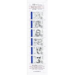 "Y&T BC 2687 - CARNET ""PERSONNAGES CELEBRES"" DE 6 TIMBRES-POSTES - 1991 - NEUF"
